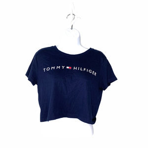 Tommy Hilfiger Crop Top M Navy With Logo